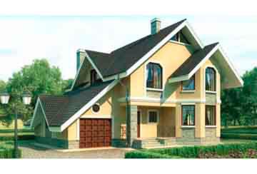 Проект дома из блоков АСД-1151