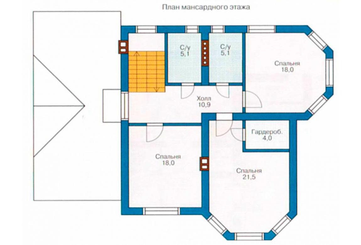 План N2 проекта дома из блоков АСД-1151
