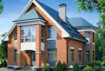 Проект дома из блоков АСД-1152
