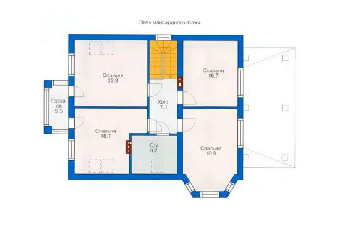План N2 проекта дома из блоков АСД-1152