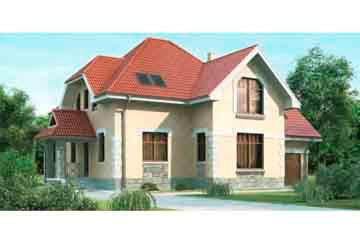 Проект дома из блоков АСД-1153