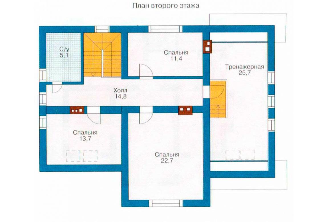 План N2 проекта дома из блоков АСД-1153