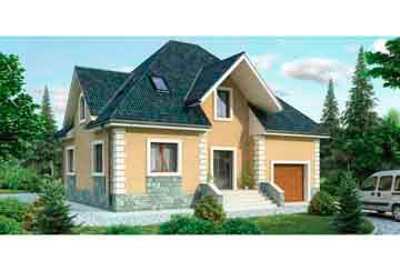 Проект дома из блоков АСД-1154