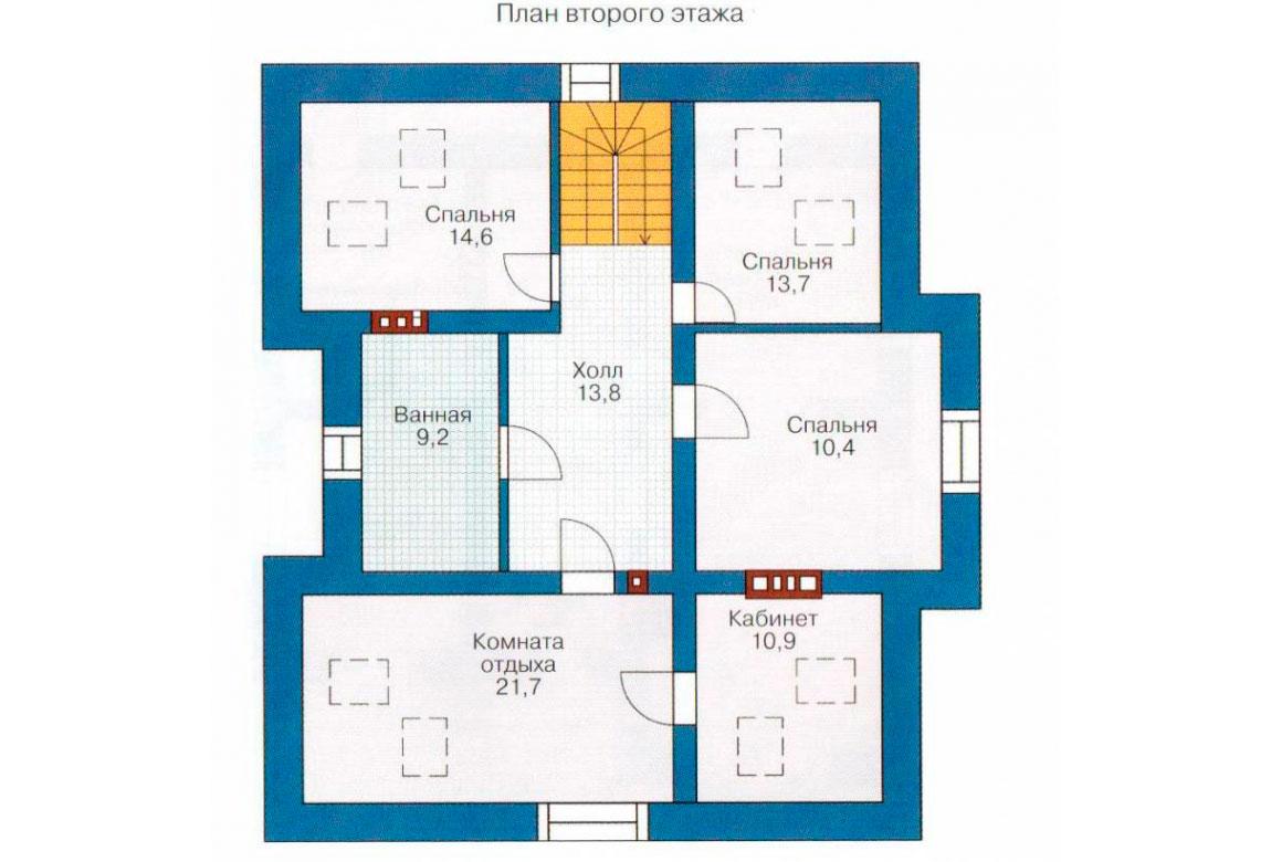 План N2 проекта дома из блоков АСД-1154