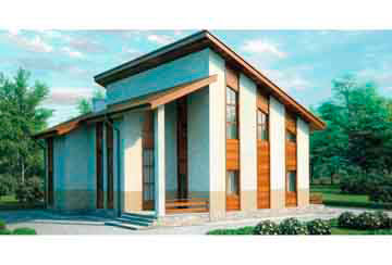 Проект дома из блоков АСД-1155