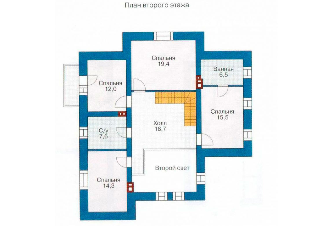План N2 проекта дома из блоков АСД-1155