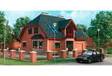 Проект дома из блоков АСД-1157
