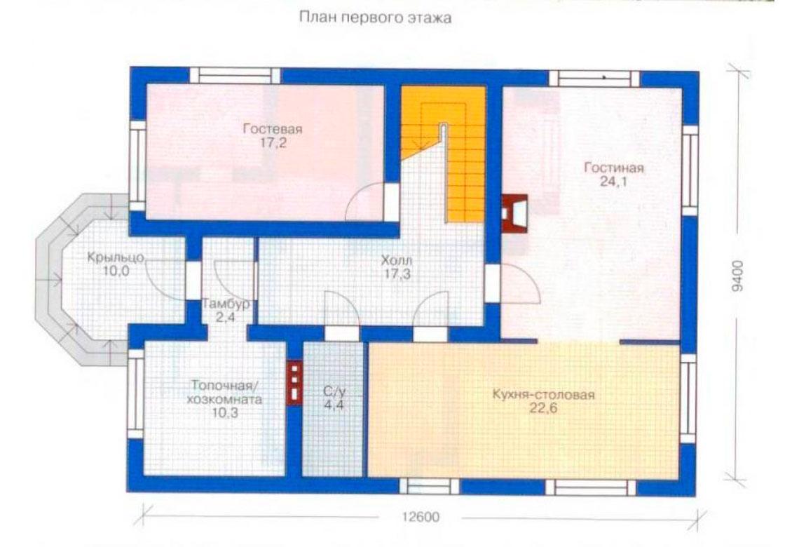 План N2 проекта дома из блоков АСД-1158