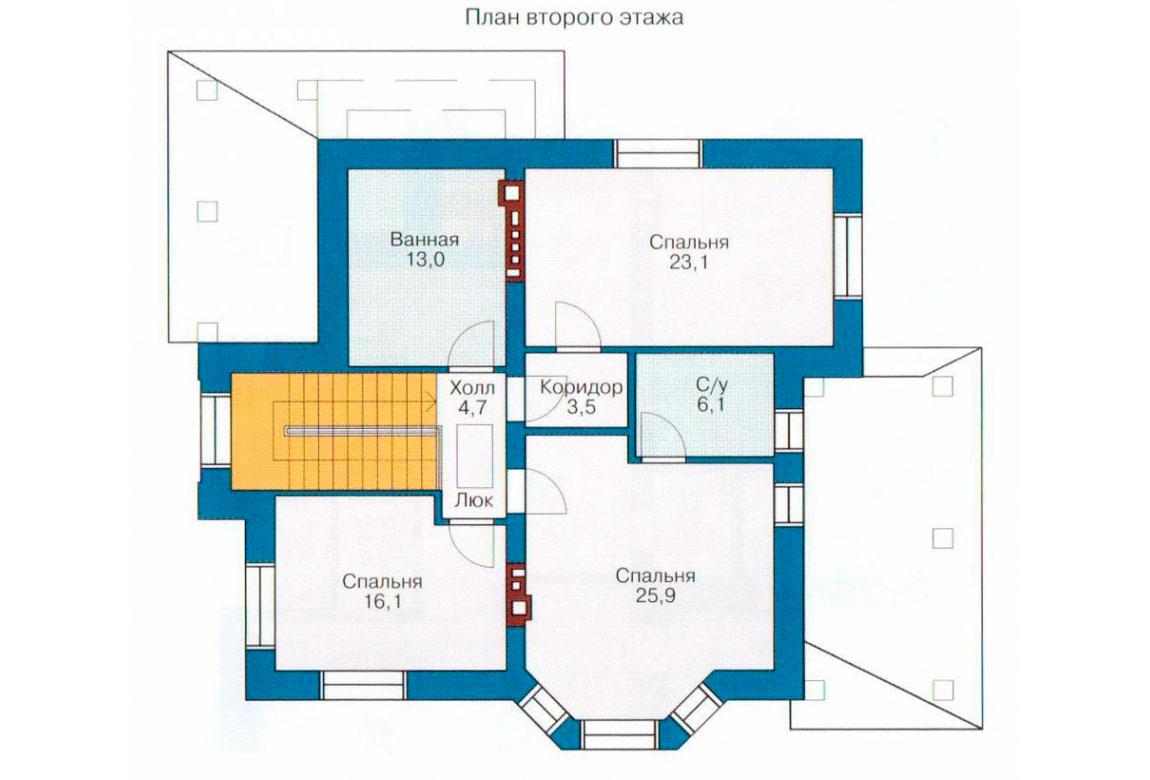 План N1 проекта дома из блоков АСД-1159