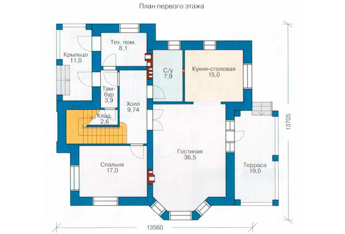 План N2 проекта дома из блоков АСД-1159