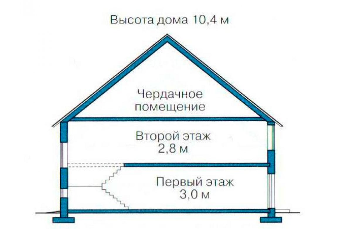 План N3 проекта дома из блоков АСД-1159