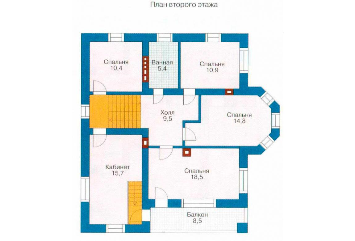 План N2 проекта кирпичного дома АСД-1016