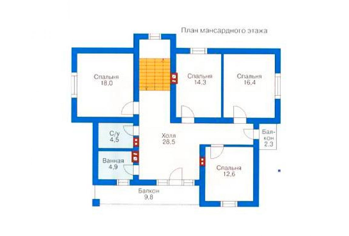 План N2 проекта дома из блоков АСД-1160