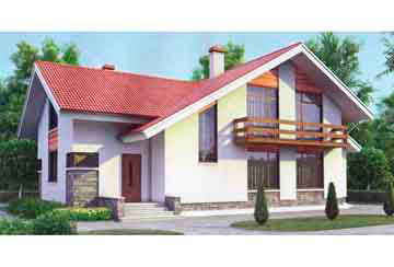 Проект дома из блоков АСД-1161