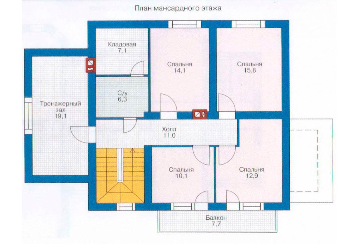 План N2 проекта дома из блоков АСД-1161