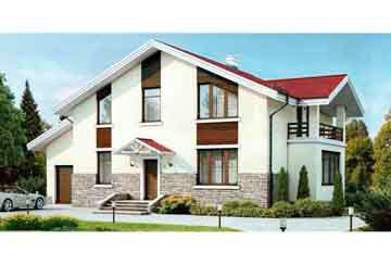 Проект дома из блоков АСД-1163