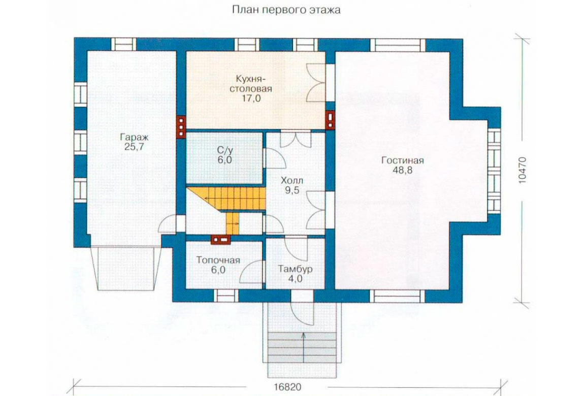 План N2 проекта дома из блоков АСД-1163