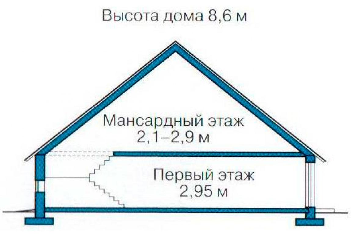 План N3 проекта дома из блоков АСД-1163