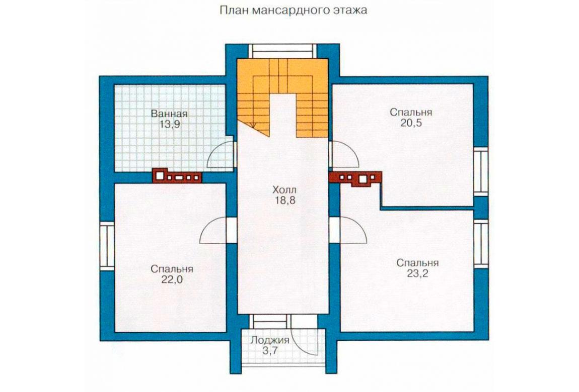 План N1 проекта дома из блоков АСД-1164
