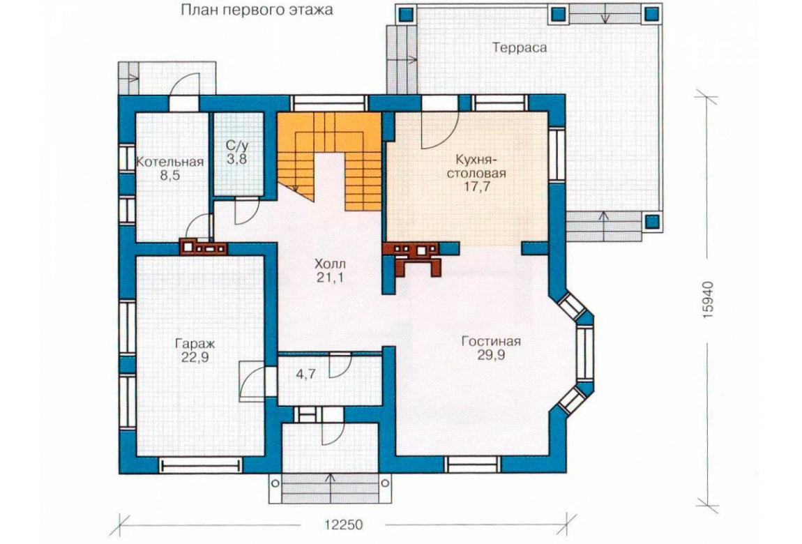 План N2 проекта дома из блоков АСД-1164
