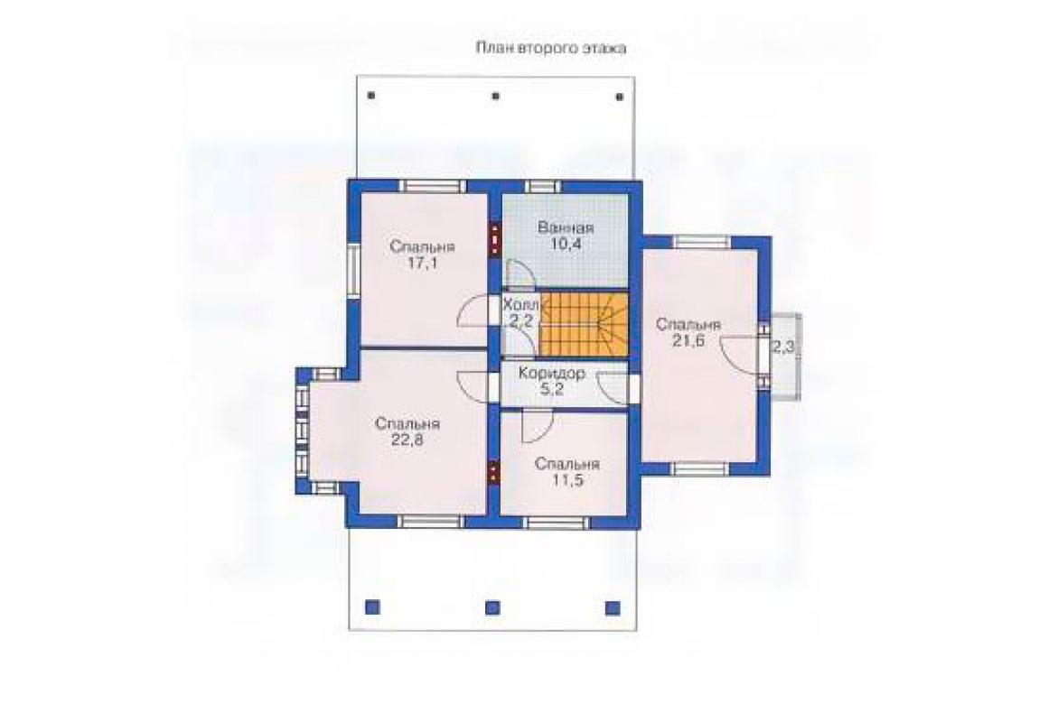 План N2 проекта дома из блоков АСД-1165