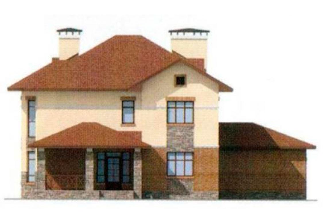 Проект дома из блоков АСД-1166 (uploads/gss/goods/166/big_3.jpg).