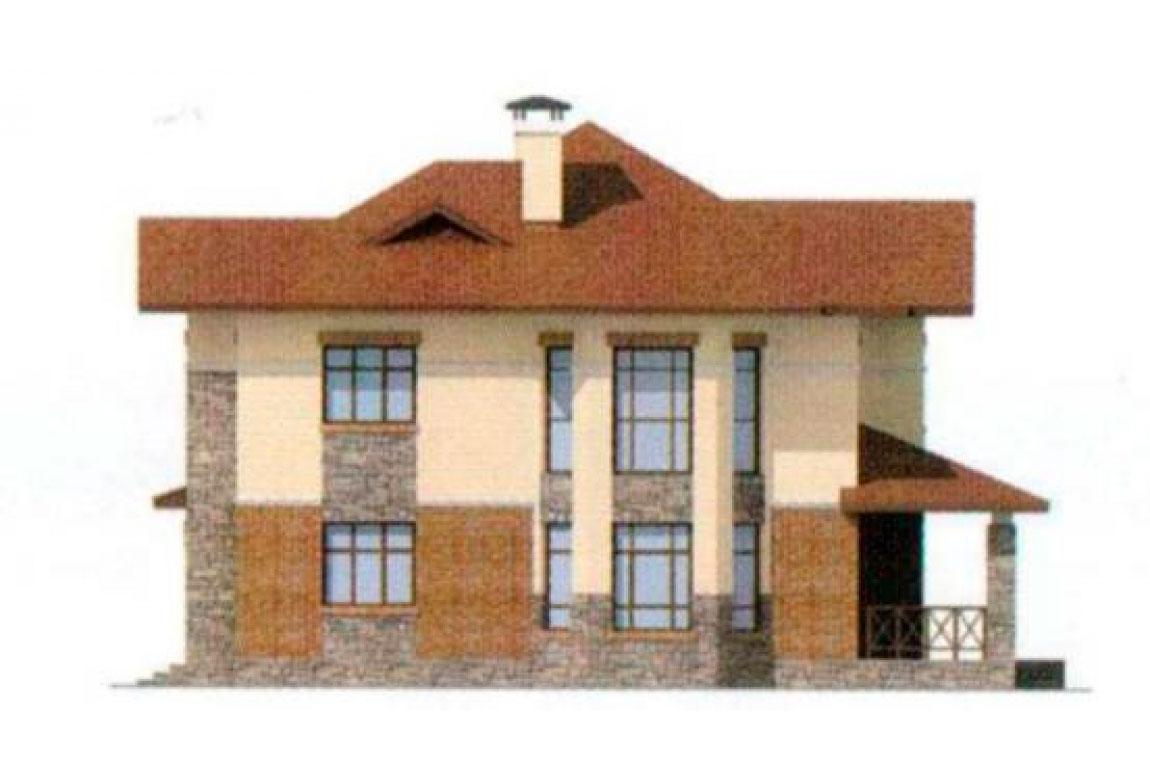 Проект дома из блоков АСД-1166 (uploads/gss/goods/166/big_4.jpg).