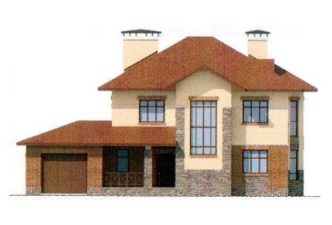 Проект дома из блоков АСД-1166 (uploads/gss/goods/166/big_5.jpg).