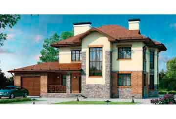 Проект дома из блоков АСД-1166