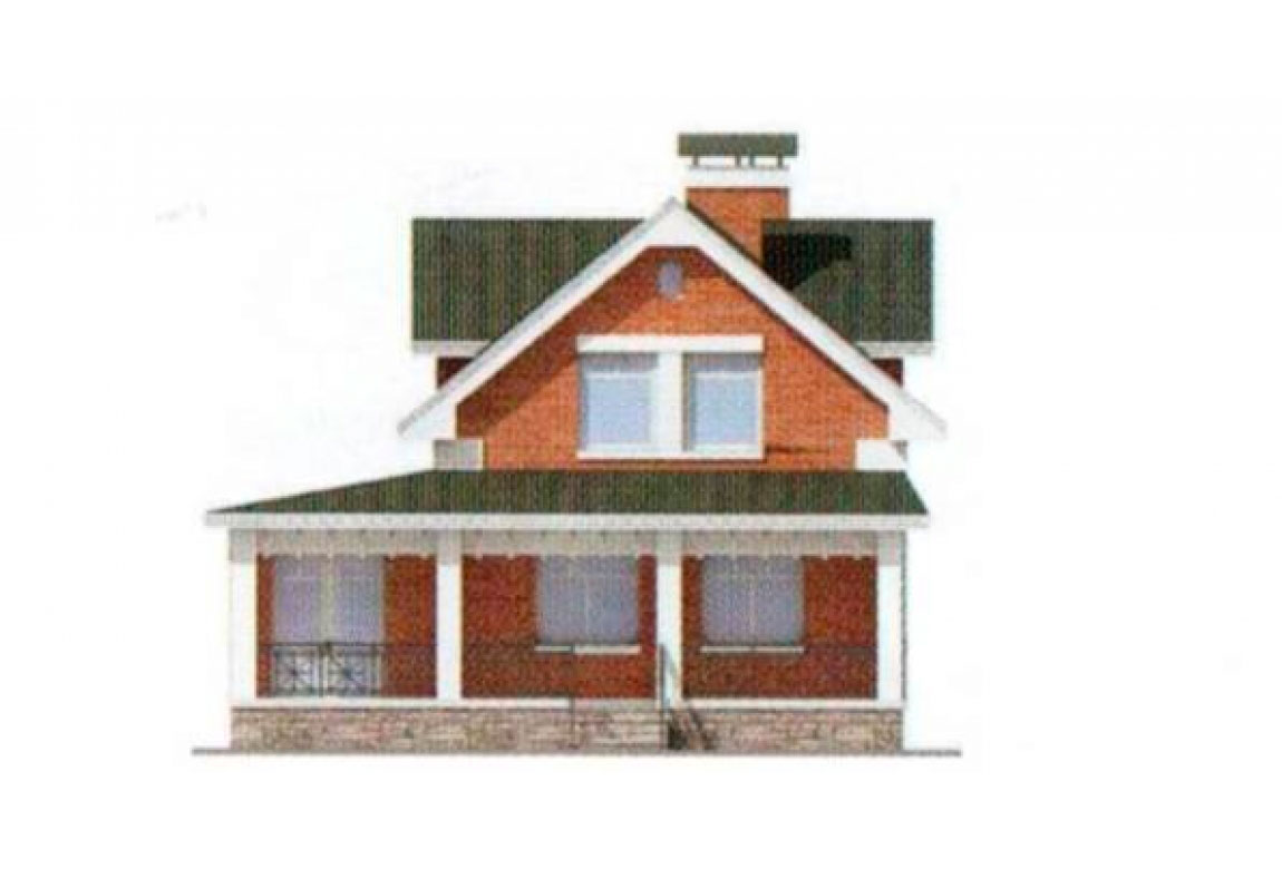 Проект дома из блоков АСД-1167 (uploads/gss/goods/167/big_4.jpg).