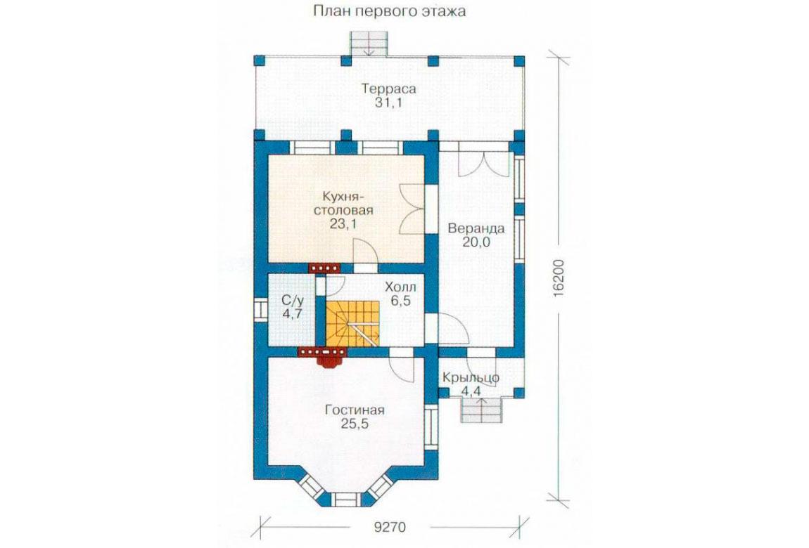 План N2 проекта дома из блоков АСД-1167