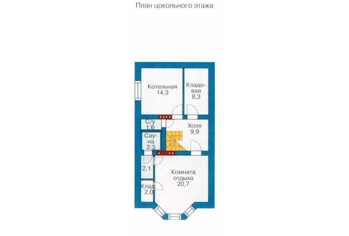 План N3 проекта дома из блоков АСД-1167