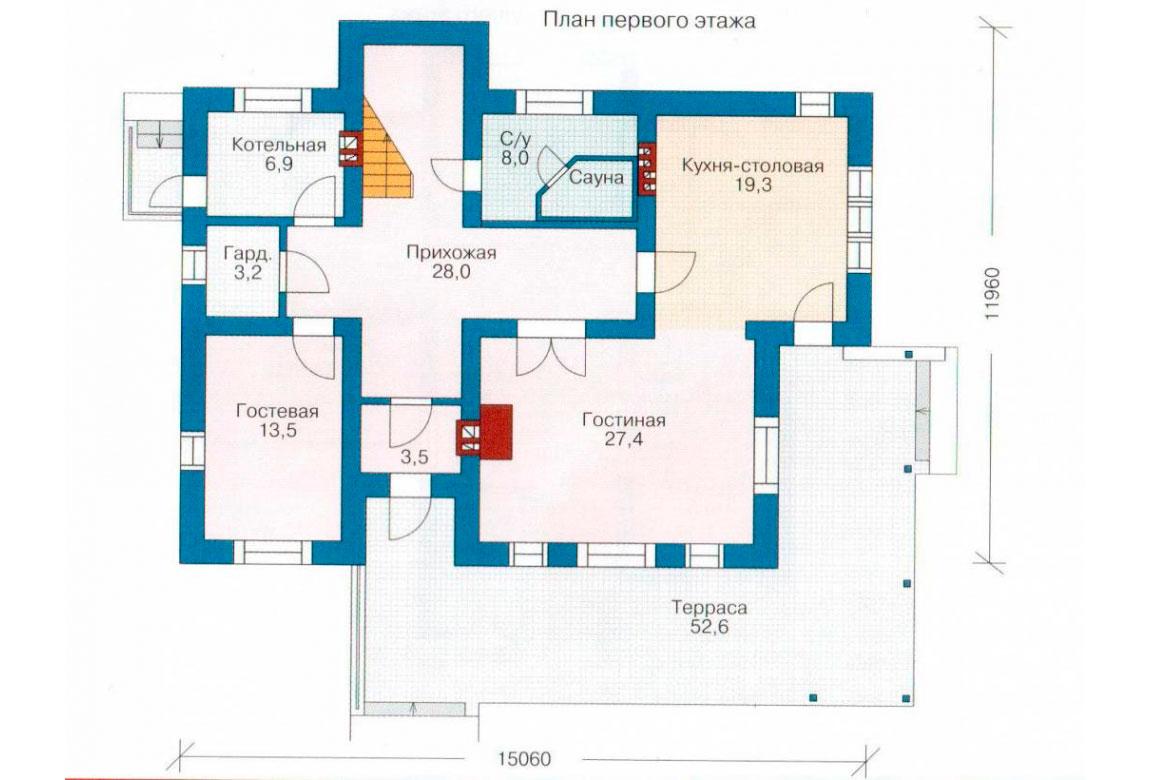 План N2 проекта дома из блоков АСД-1168