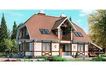 Проект дома из блоков АСД-1169