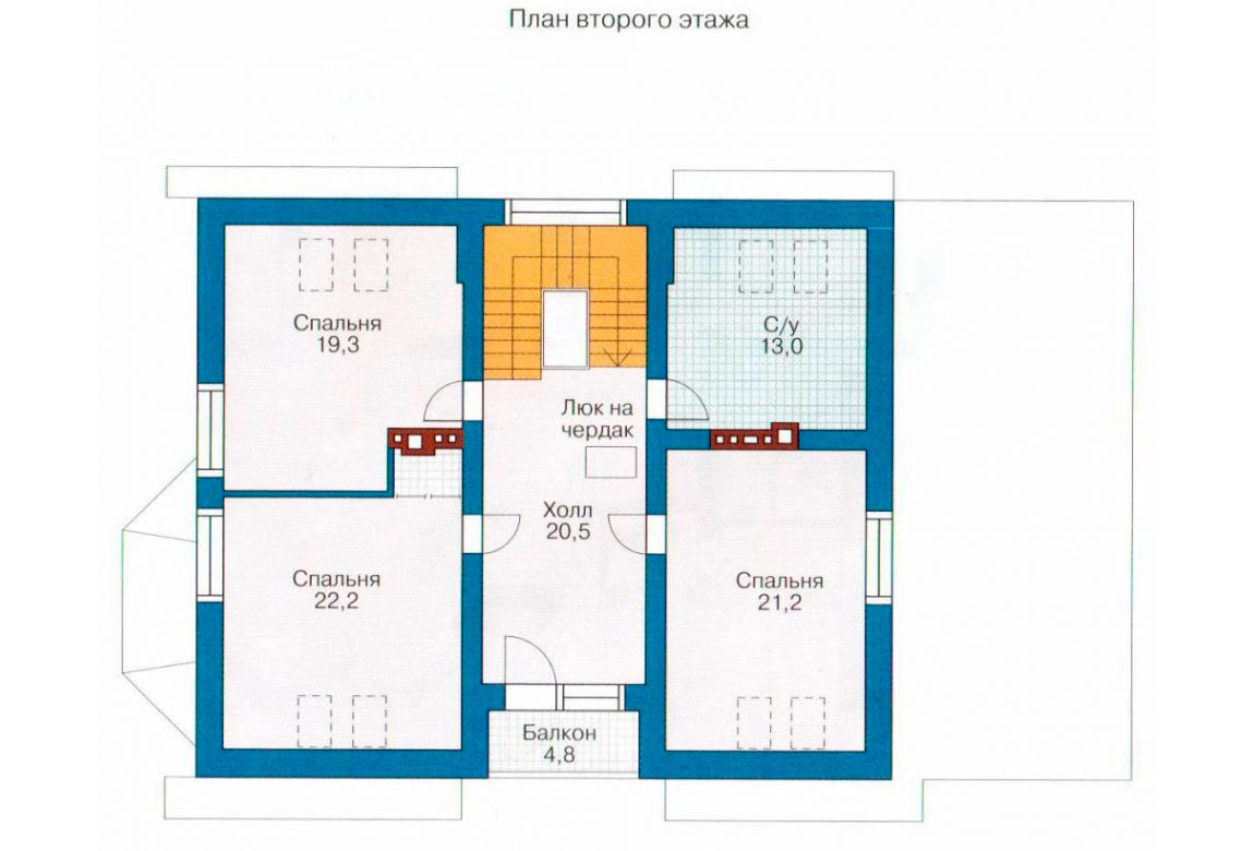 План N2 проекта дома из блоков АСД-1169