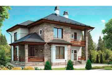Проект кирпичного дома АСД-1017