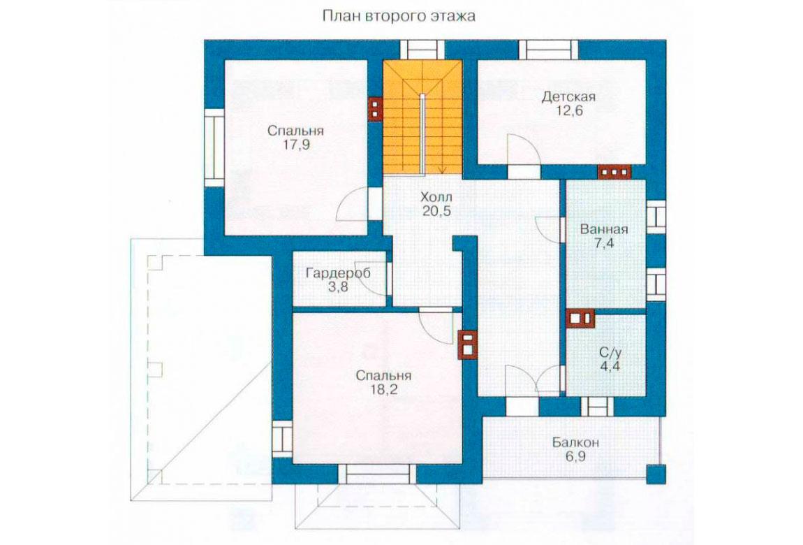 План N1 проекта кирпичного дома АСД-1017