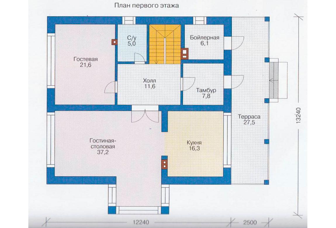 План N2 проекта дома из блоков АСД-1170