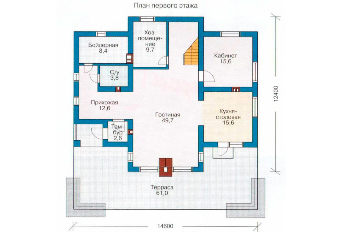 План N2 проекта дома из блоков АСД-1171