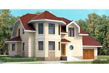 Проект дома из блоков АСД-1172