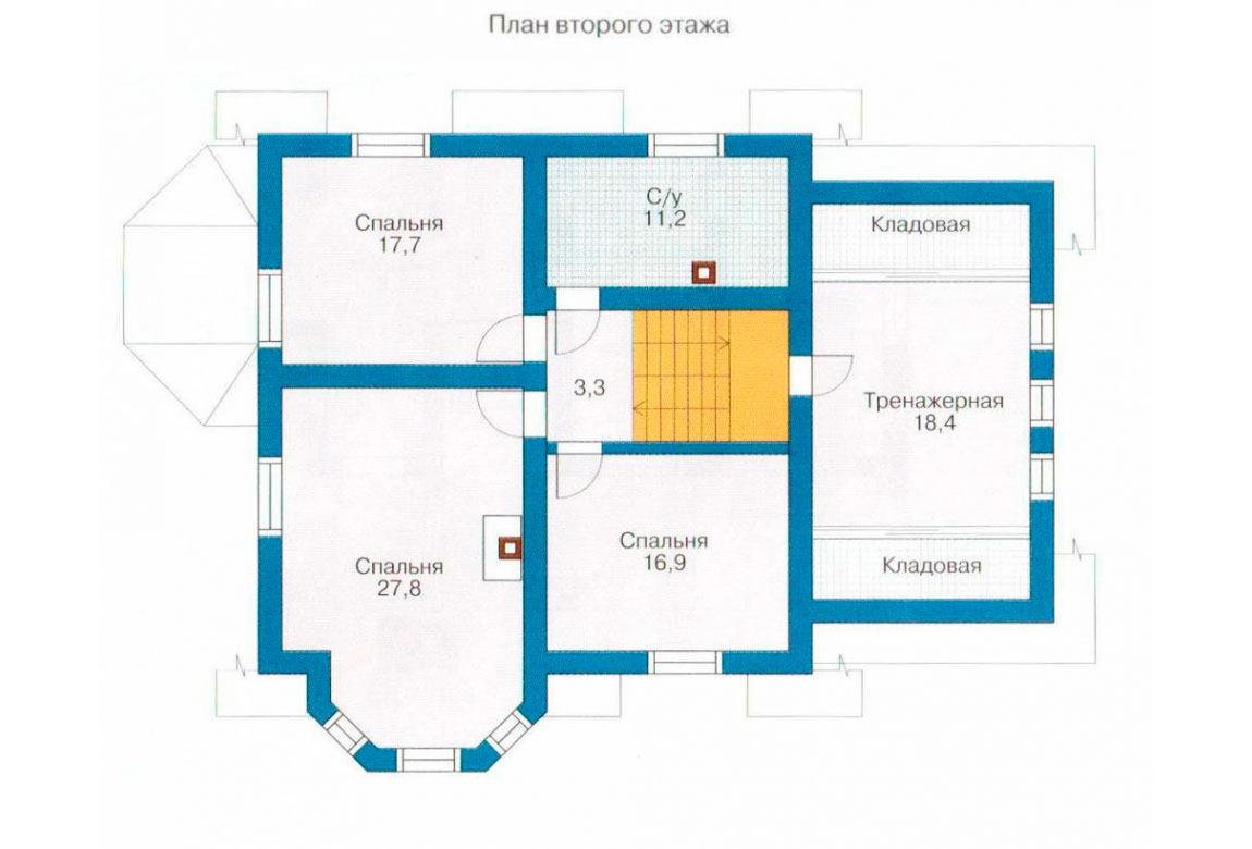 План N2 проекта дома из блоков АСД-1172