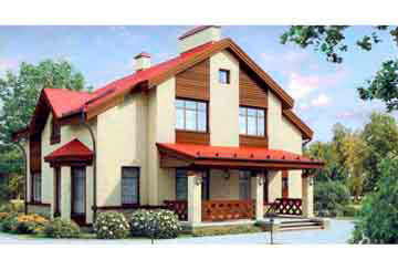 Проект дома из блоков АСД-1174