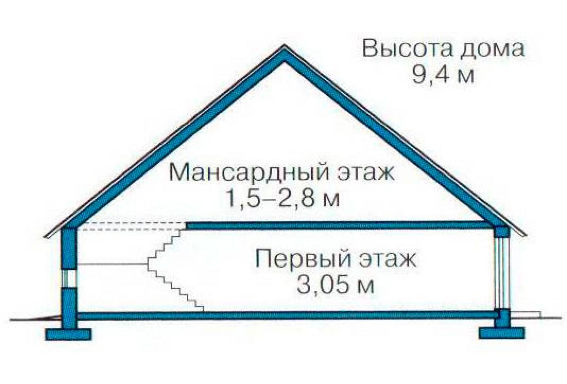 План N3 проекта дома из блоков АСД-1175