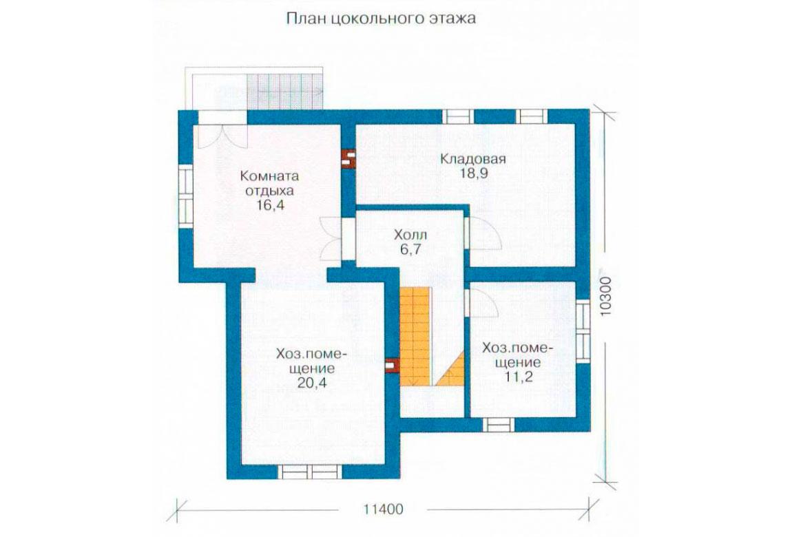 План N2 проекта дома из блоков АСД-1176