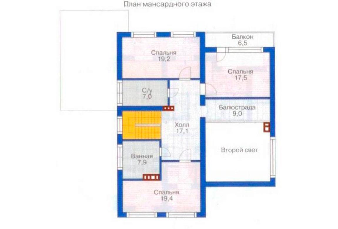 План N2 проекта дома из блоков АСД-1177
