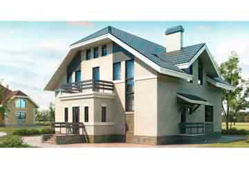 Проект дома из блоков АСД-1178