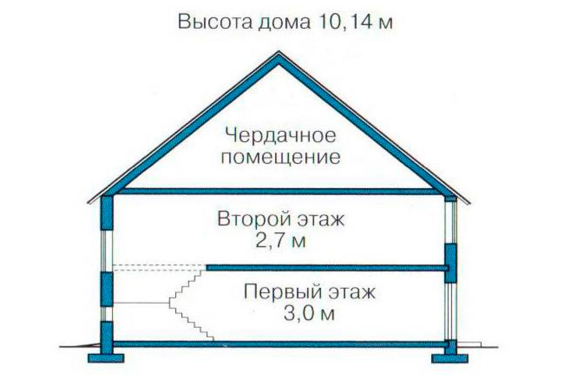 План N3 проекта дома из блоков АСД-1178