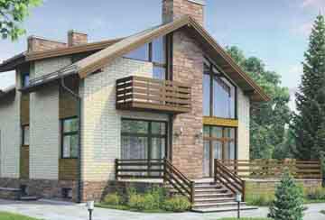 Проект дома из блоков АСД-1179