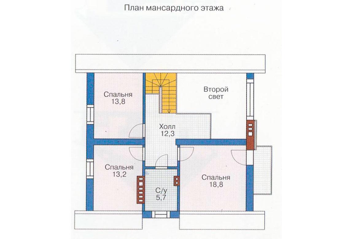 План N1 проекта дома из блоков АСД-1179