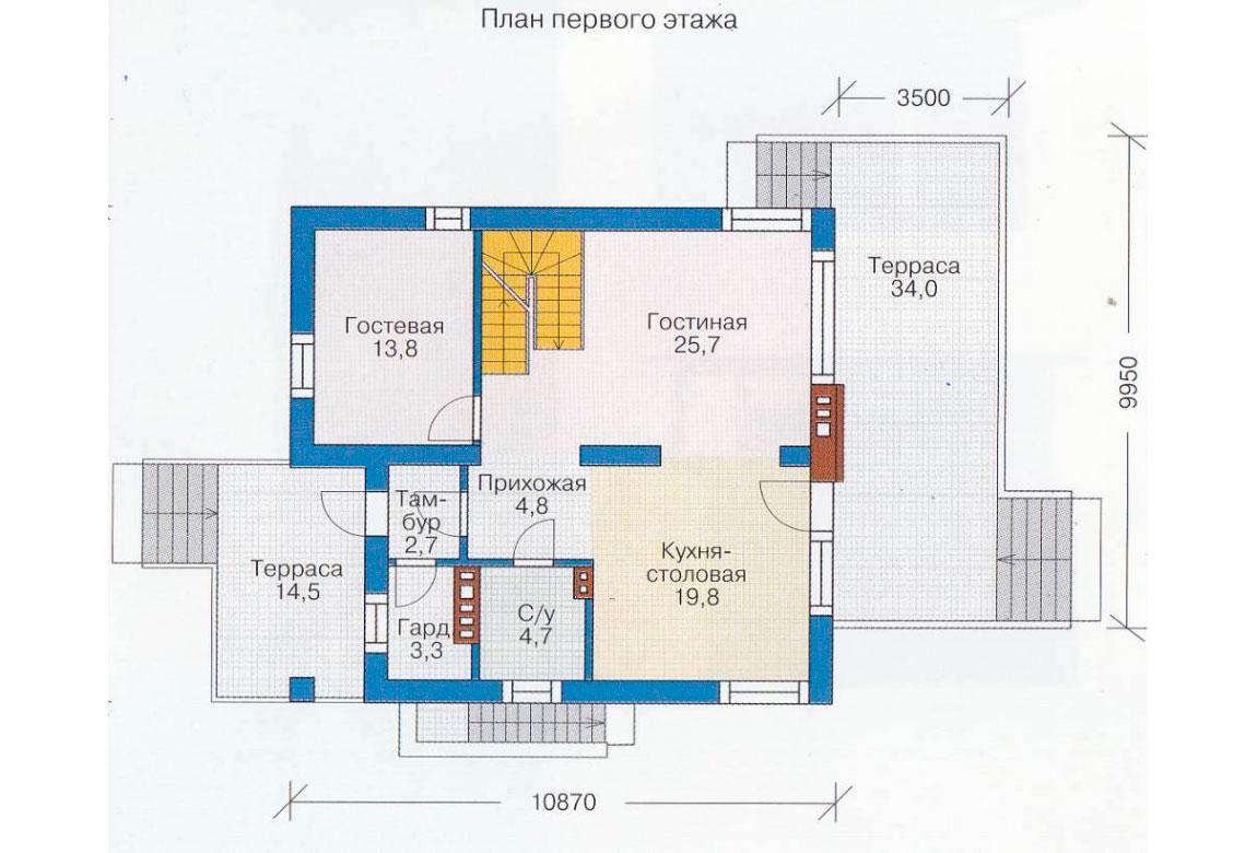 План N2 проекта дома из блоков АСД-1179